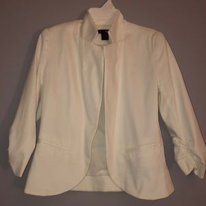 Aqua white blazer